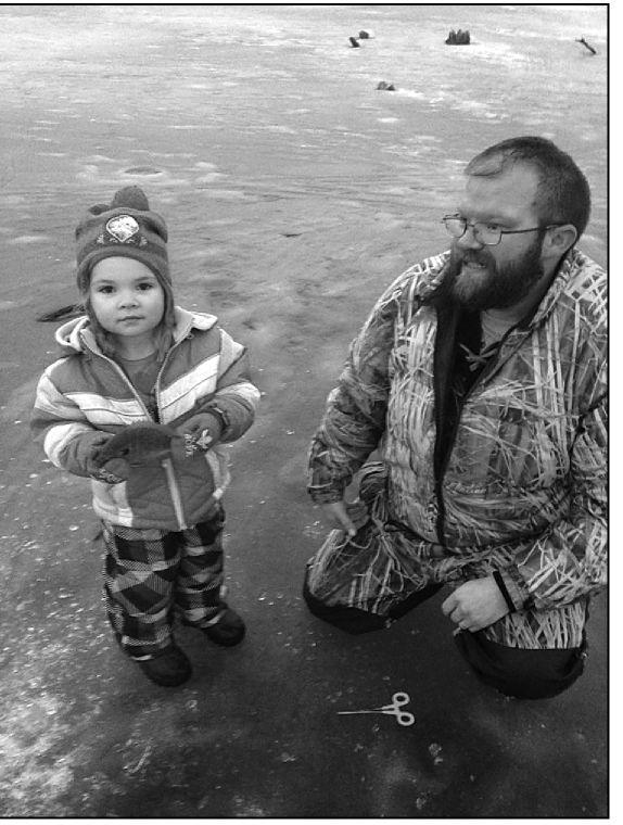 Ice fisherman can't complain about cold