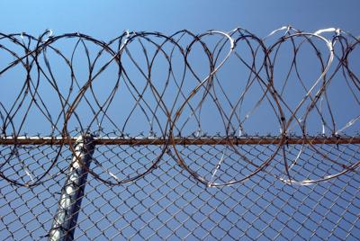 Tecumseh State Prison teaser wire fence