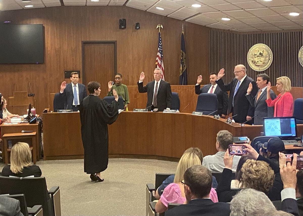 Councilmembers sworn in