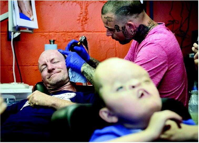 'SAVORING' EACH POKE AS HE SHARES SON'S PAIN