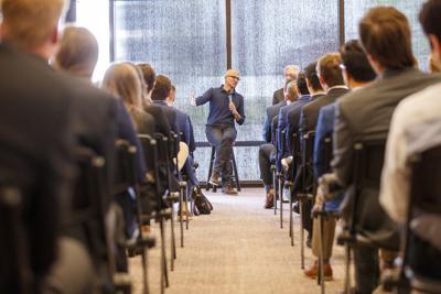 Satya Nadella, CEO of Microsoft, talks about life and business at UNL