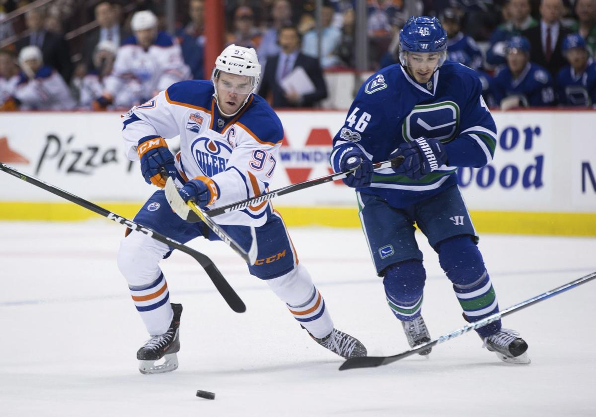 Oilers Canucks Hockey