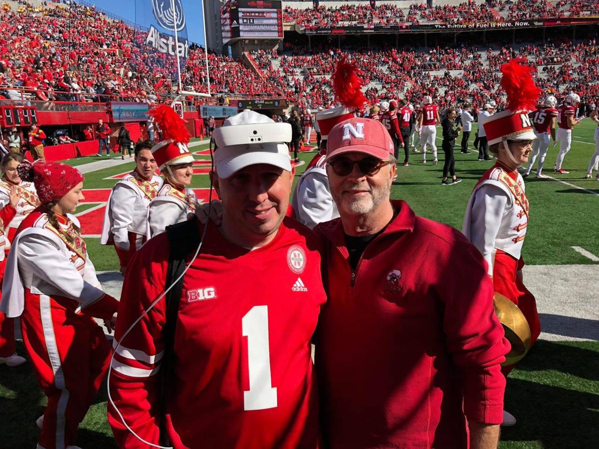Nebraska native who's legally blind sees Huskers play for first time thanks to special glasses