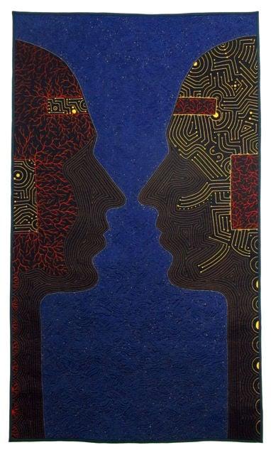 """Past Reflects Future"" by fiber artist Shea Wilkinson."