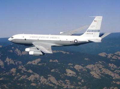 OC-135 in flight