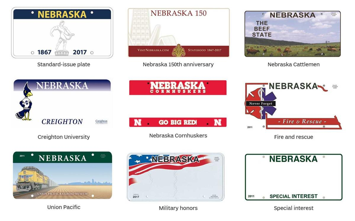 2017 Nebraska license plate options