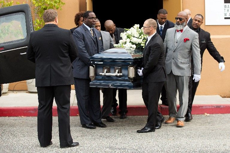 Lawrence Phillips' funeral