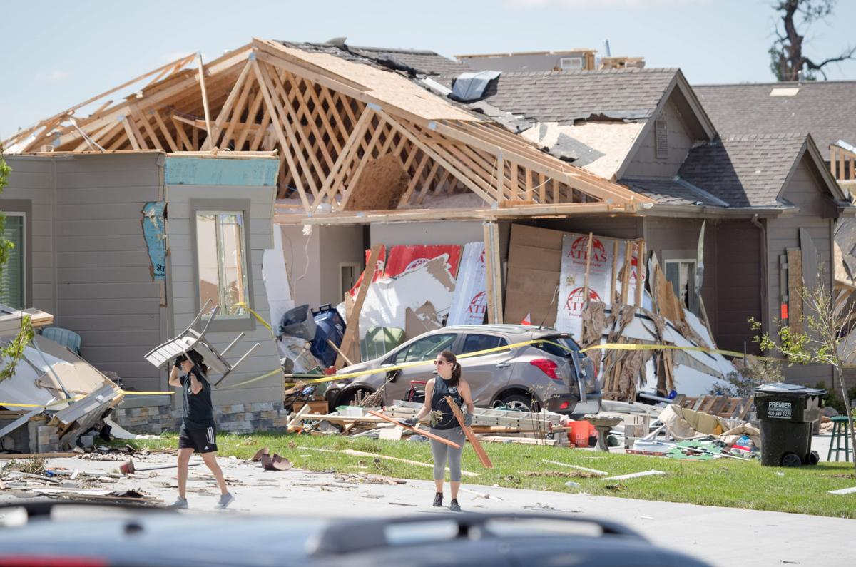 powerful storm splinters homes knocks out power to thousands two