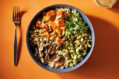 Bring color and balance to your dinner with these hearty, healthful grain bowls
