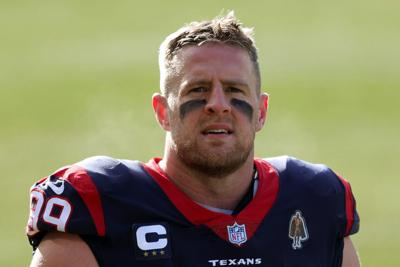 J.J. Watt #99 of the Houston Texans walks to the locker room prior to a game against the Chicago Bears at Soldier Field on December 13, 2020, in Chicago, Illinois.