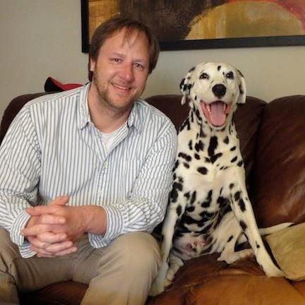 David Codr and dog