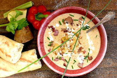 Creamy Potato & Bacon Soup