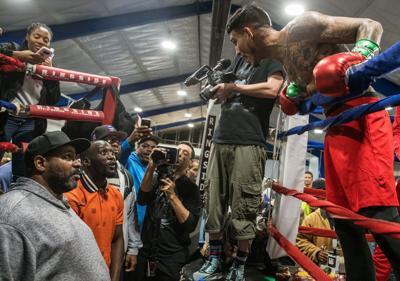 Terence 'Bud' Crawford, Jose Benavidez Jr. exchange words at media event leading up to fight