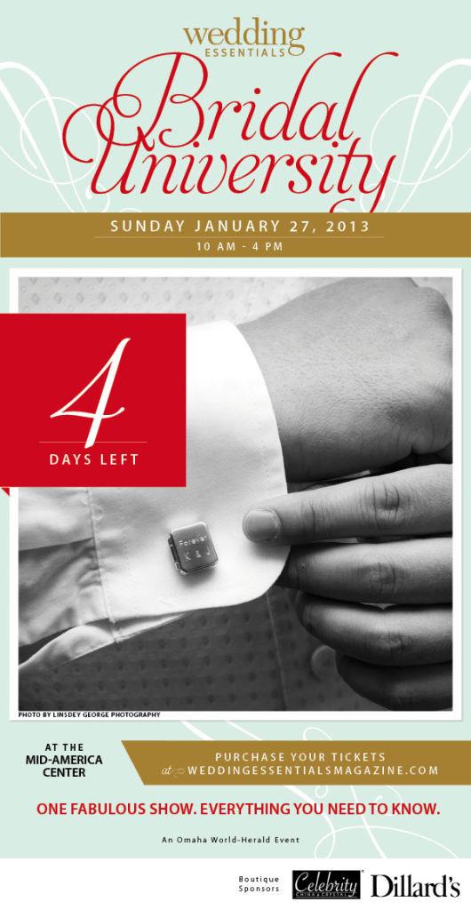4 days left until Wedding Essentials Bridal University 2013!