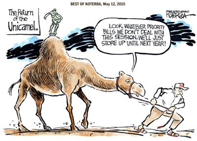 The best of Jeff Koterba's cartoons: The Unicamel returns