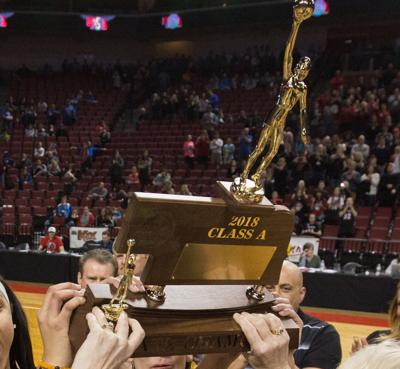 Girls basketball state trophy