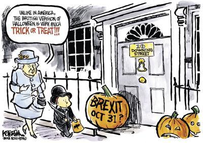 Jeff Koterba's cartoon: Trick or Treat, UK style