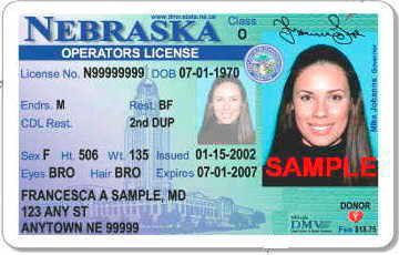 Nebraska driver's license teaser art