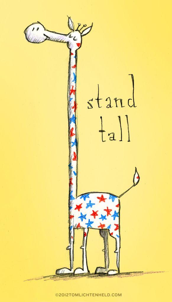 Stand tall, America
