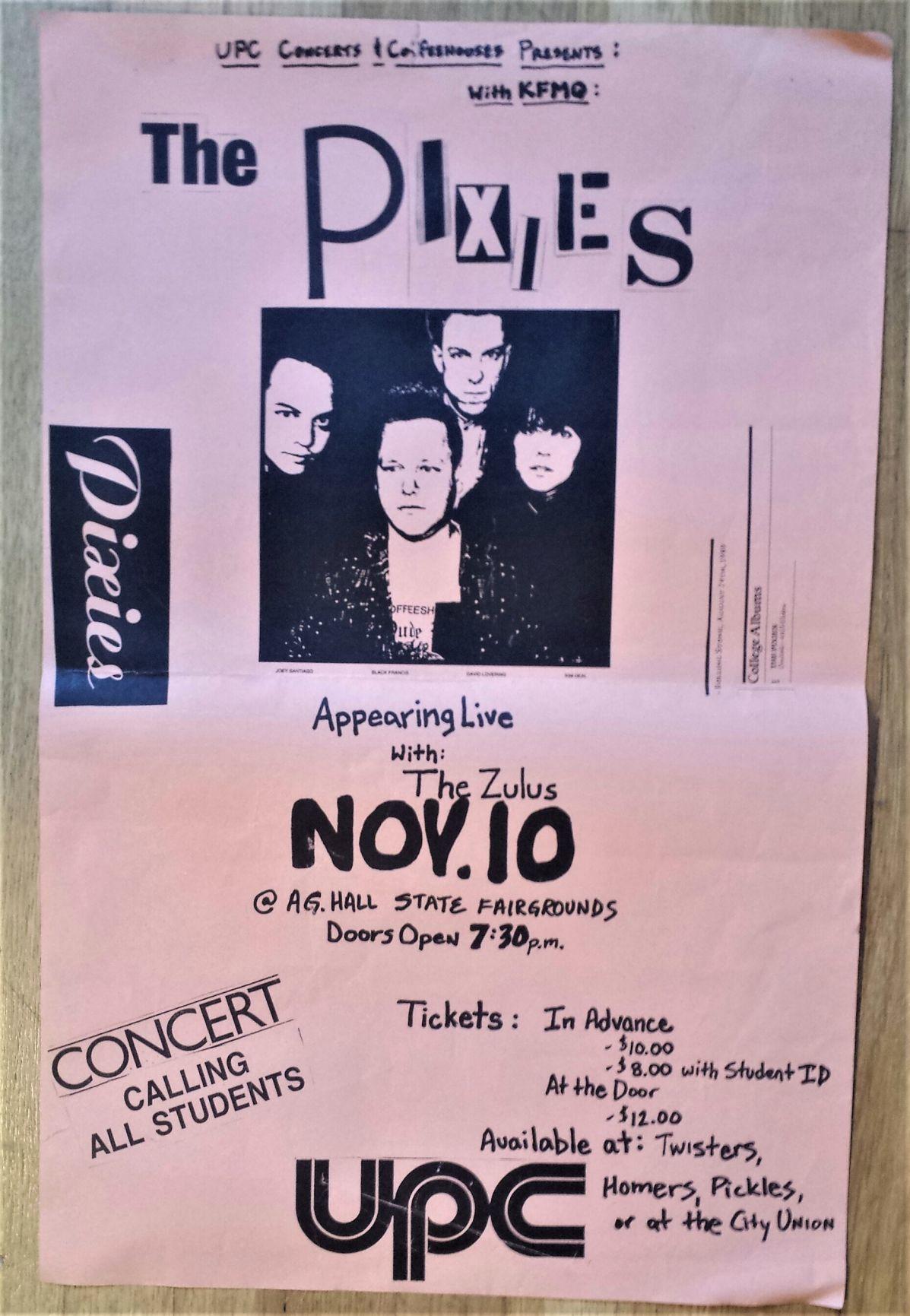 Nov. 10, 1989 Pixies UNL Ag Hall
