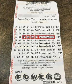 Vilsack's winning lottery ticket