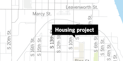 Housing project map 10th and Pierce