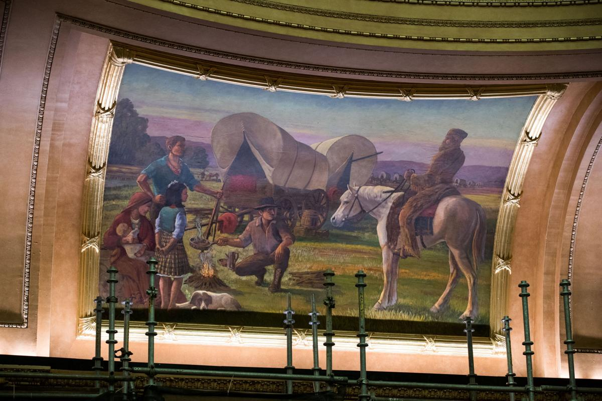 Douglas County Courthouse murals have a colorful past, and