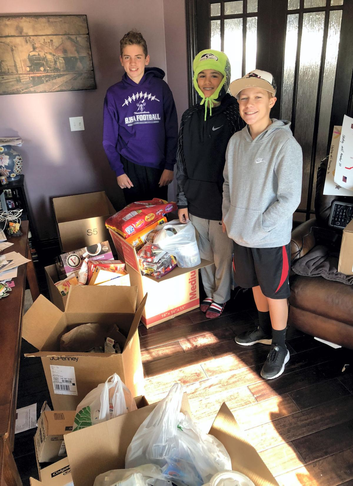 Lewis and Clark students send 32 boxes of donations to troops