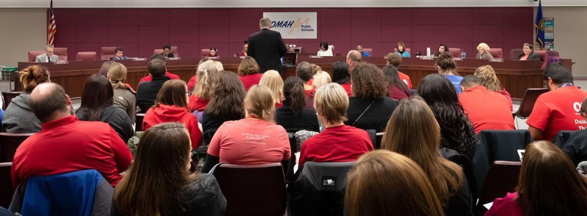 Omaha Education Association members
