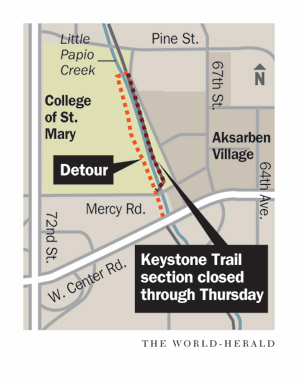 Section of Keystone Trail is closed for repairs