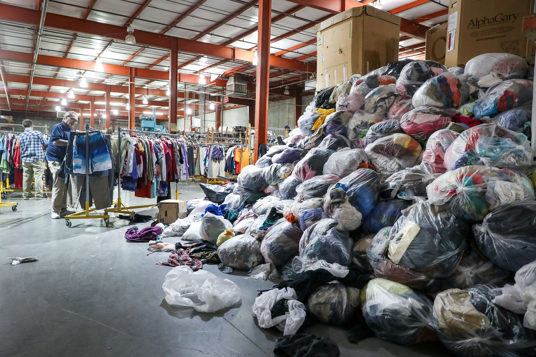 Goodwill donations Amid a decline in donations