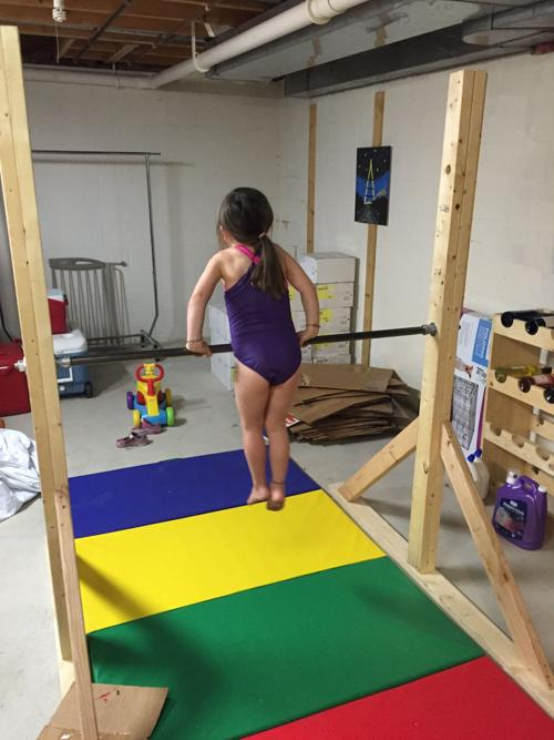 Dad Tackles Home Gymnastics Project Gets Unexpected Result Family