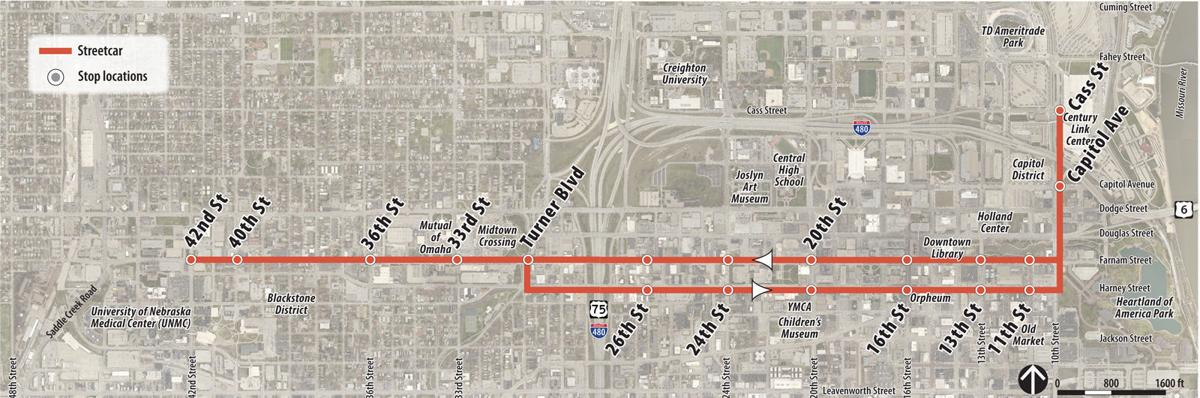 March 2018 proposed streetcar map