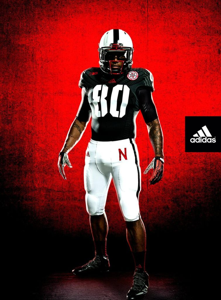 bd37403fa Nebraska s alternate uniform for UCLA game includes black jersey ...