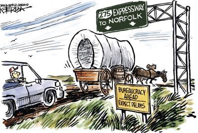 Jeff Koterba's latest cartoon: The really slow lane
