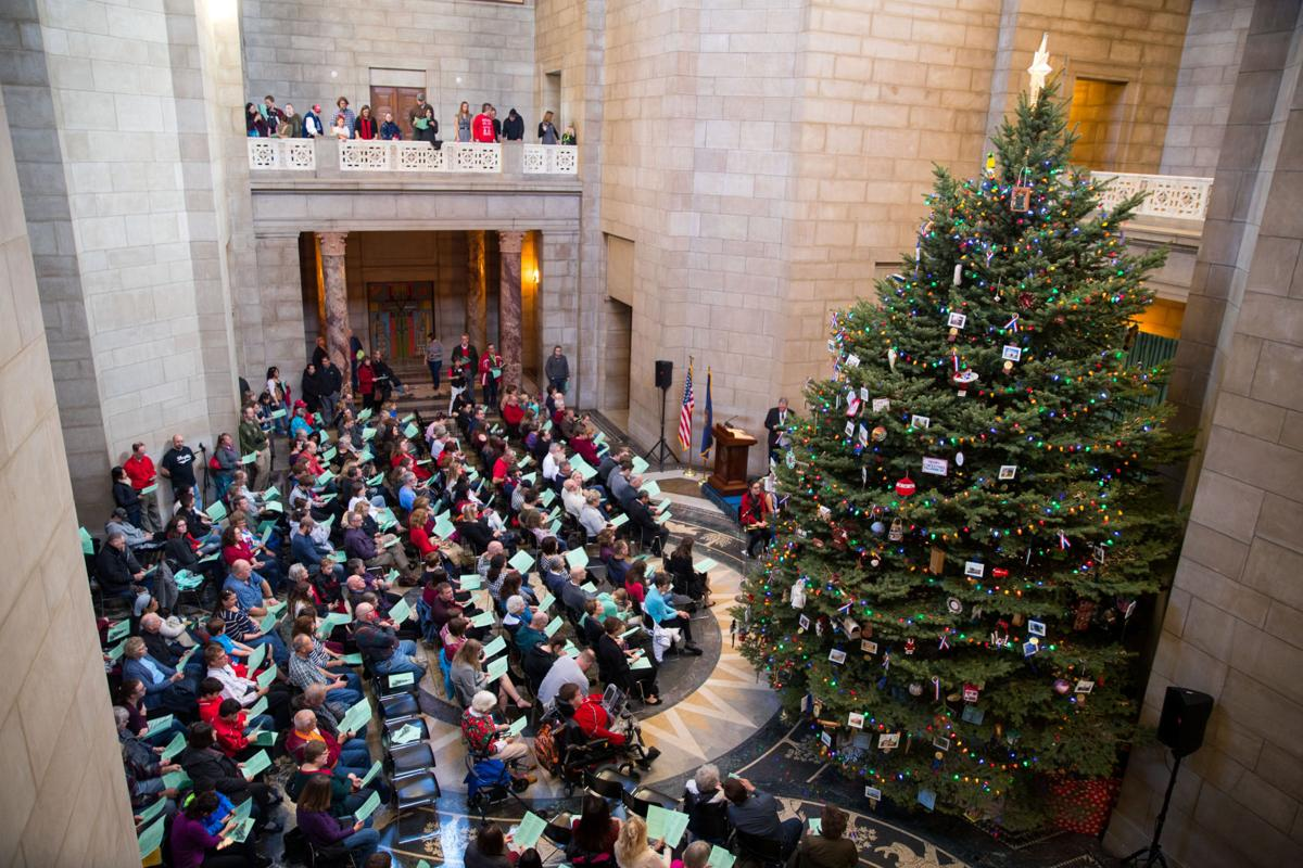 Capitol Christmas Tree.400 Attend Lighting Of Nebraska State Capitol Christmas Tree