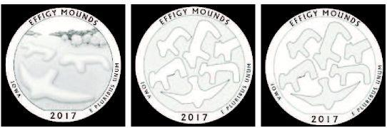 Search for design that depicts Iowa's effigy mounds confounds