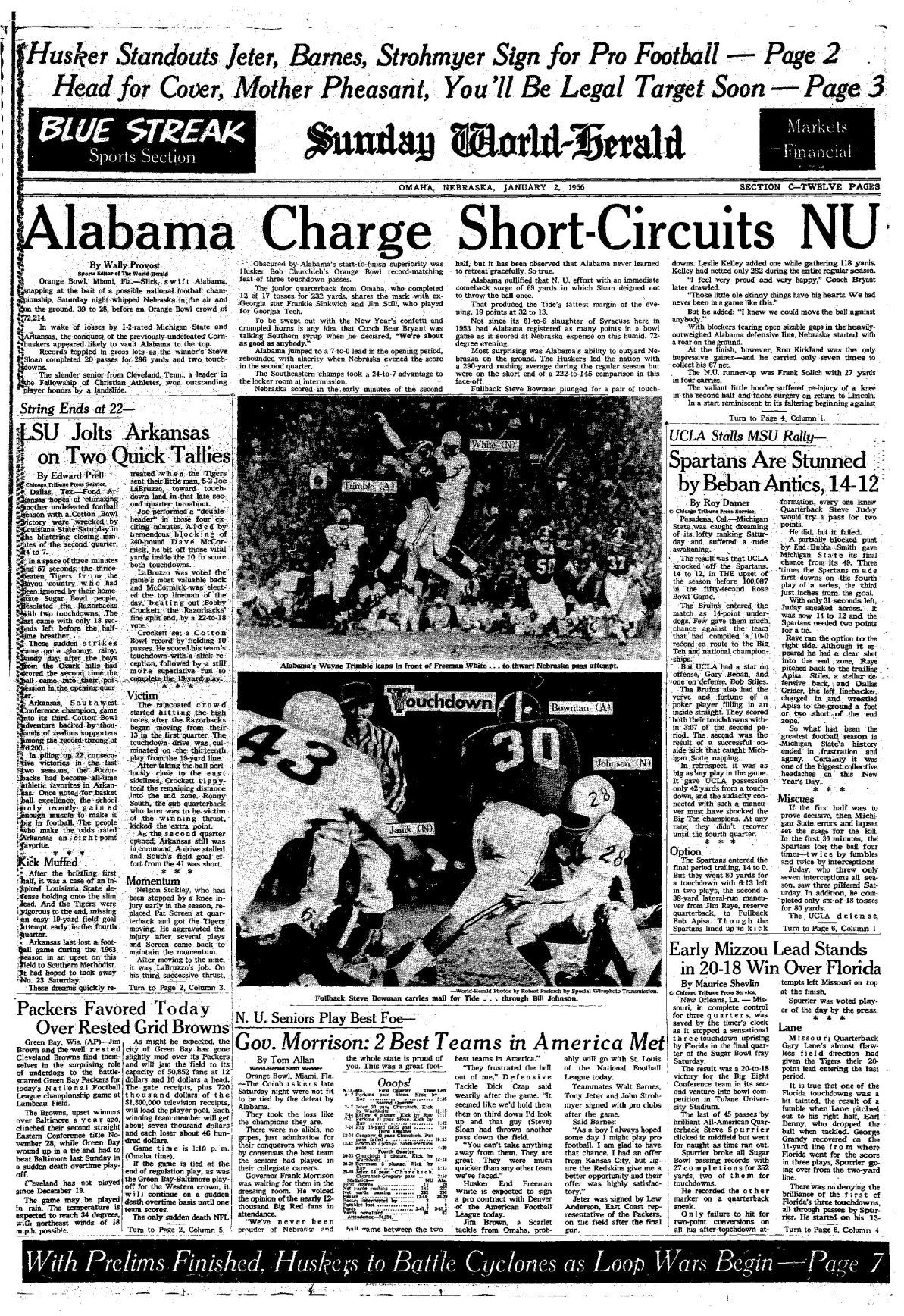 Husker History: World-Herald front pages and images from all 53