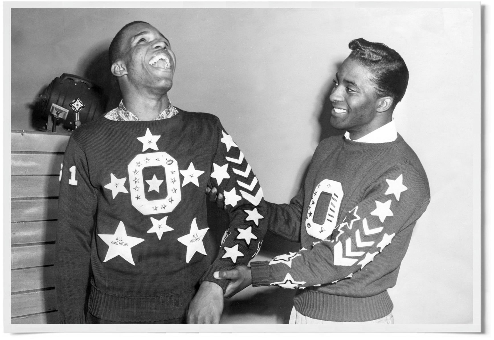 27d32d40c0f3 Gale Sayers, left, and Vernon Breakfield shared the backfield at Central  High and packed their letter sweaters with awards.