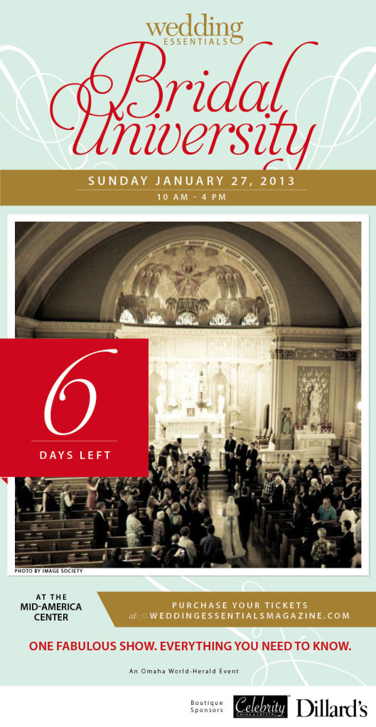 6 days left until Wedding Essentials Bridal University 2013!