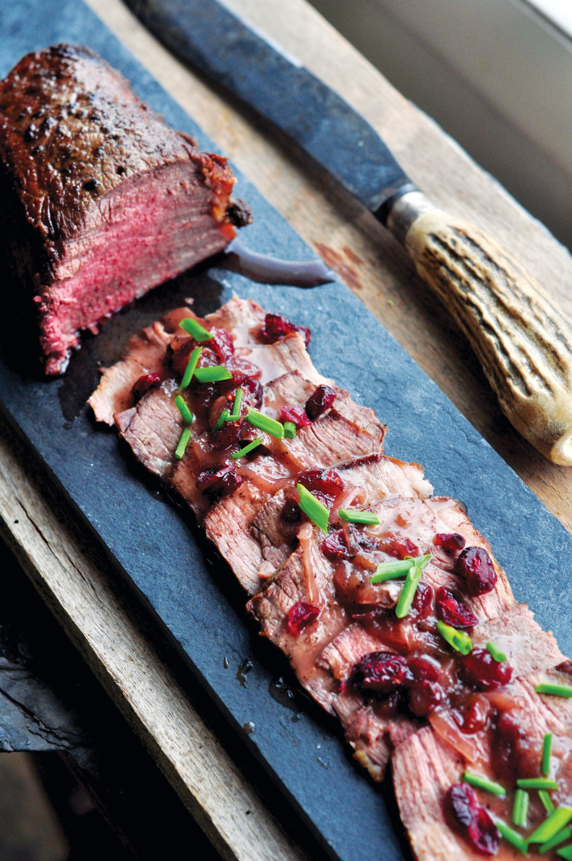 Seared Beef Roast with Cumberland-Style Cranberry Pan Sauce