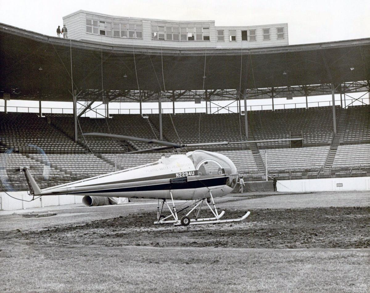 CWS grounds crew once lit infield on fire, used helicopter as giant