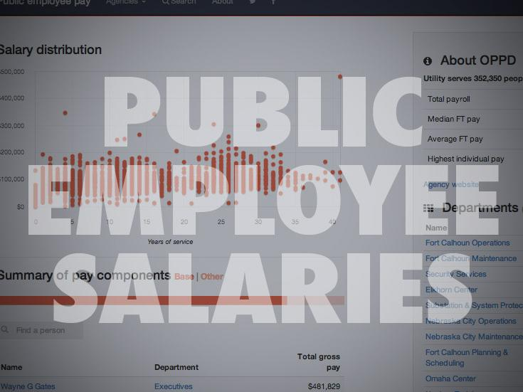 Public employee pay data: Area schools, Douglas and Sarpy Counties, City of Omaha, more