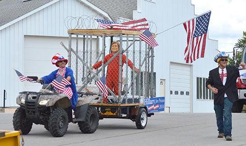 Clinton parade float