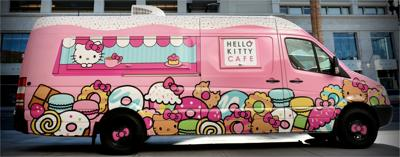 Check out the Hello Kitty Café Truck