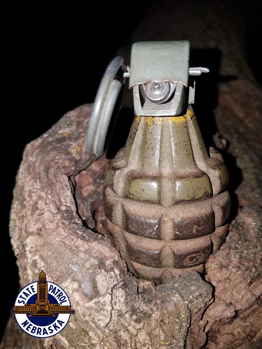 Grenade found in Talmage