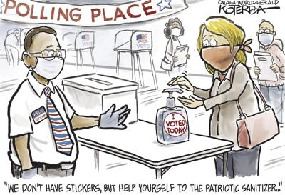 Jeff Koterba's latest cartoon: Doing the patriotic thing