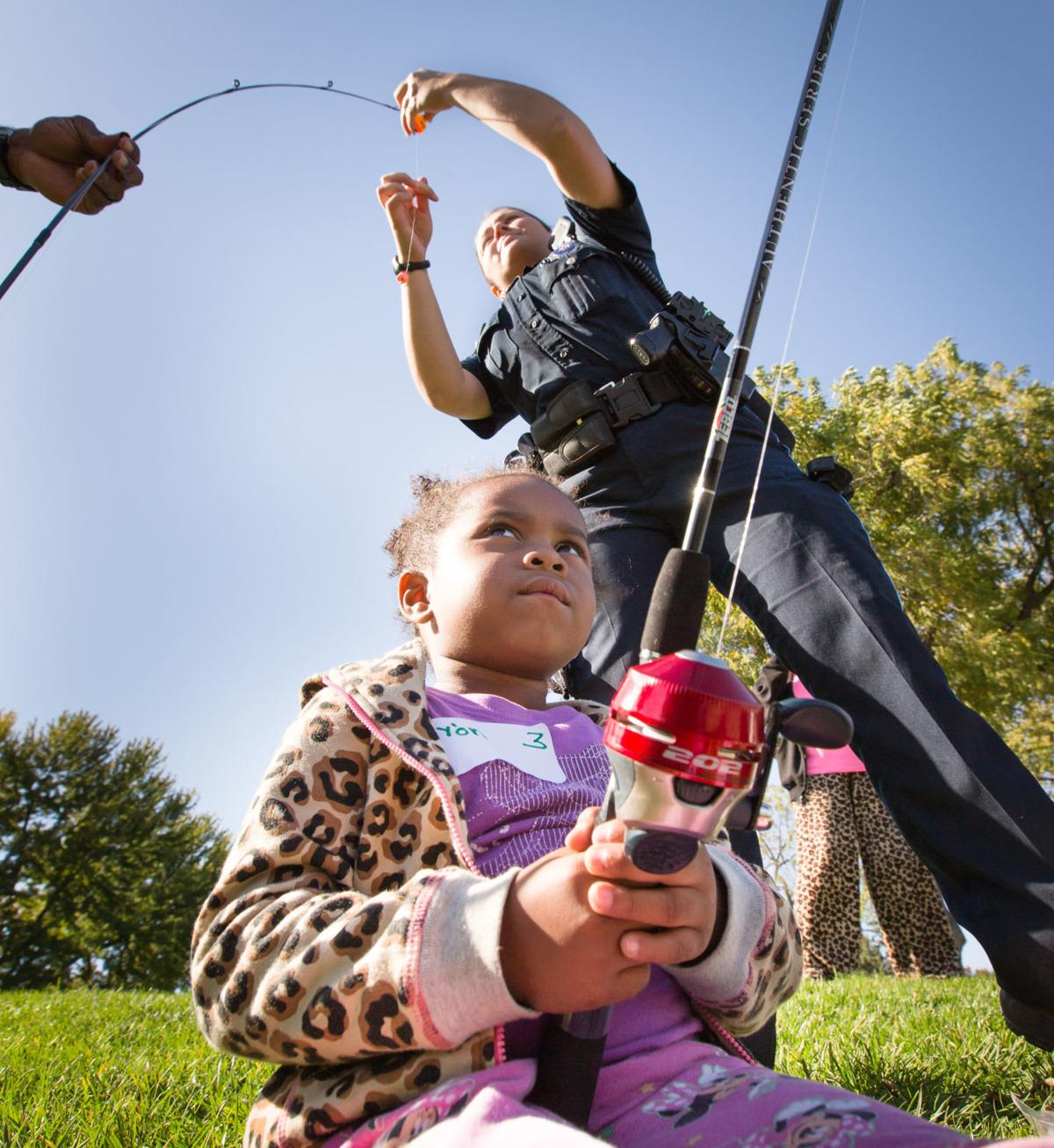 Go fishing with cops