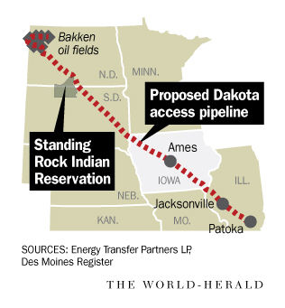 Dakota Access Pipeline Iowa Map.11 Nebraska State Troopers In North Dakota To Help Provide Law