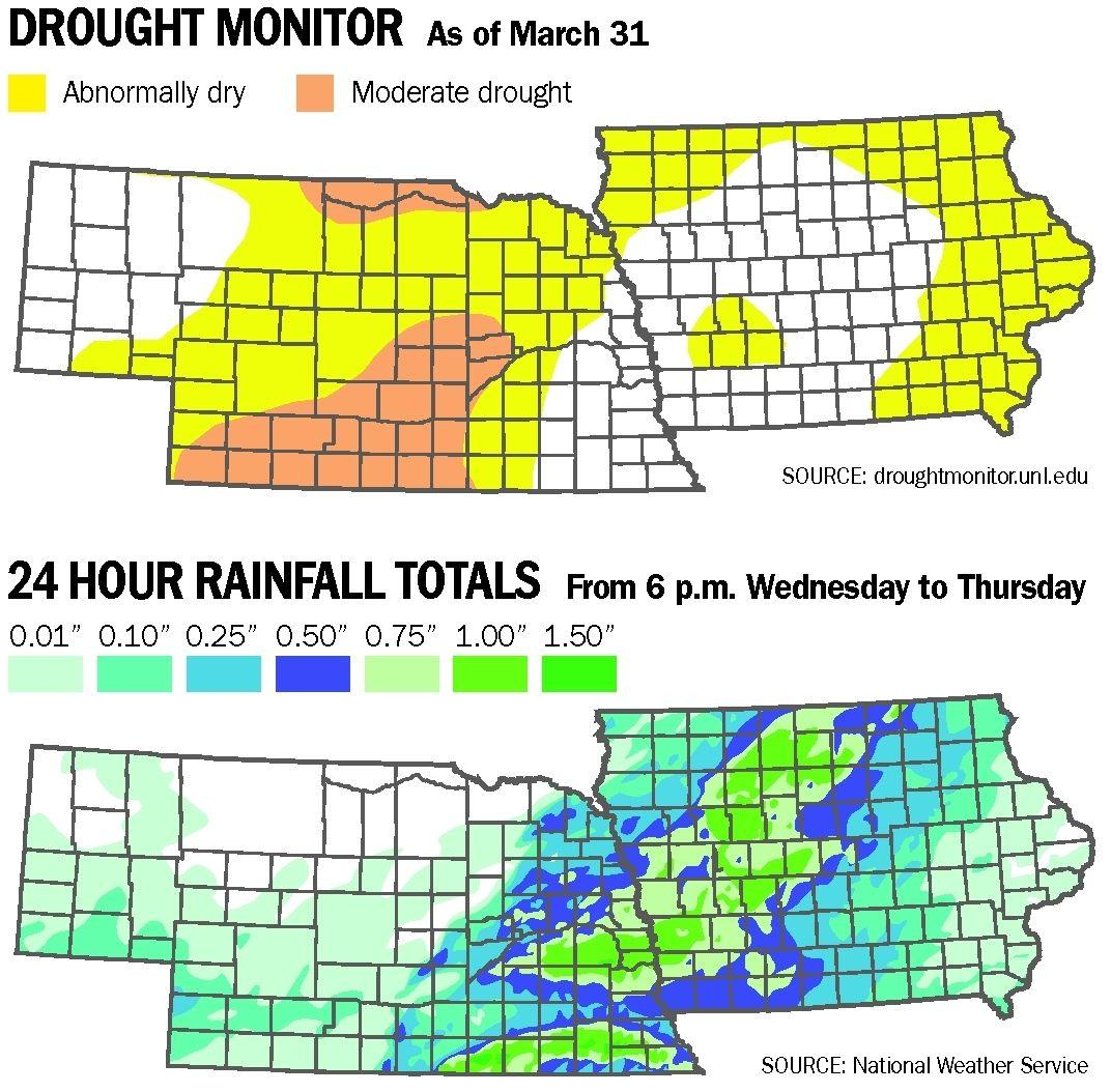 Driest areas of state missed out on rainfall